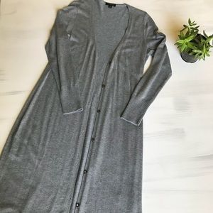 H by Halston grey long cardigan